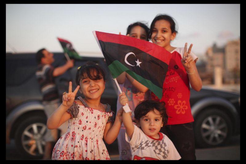 Caduta Gheddafi- festeggiamenti