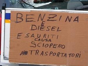 Benzina sciopero tir
