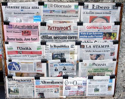 Titoli quotidiani europei stranieri