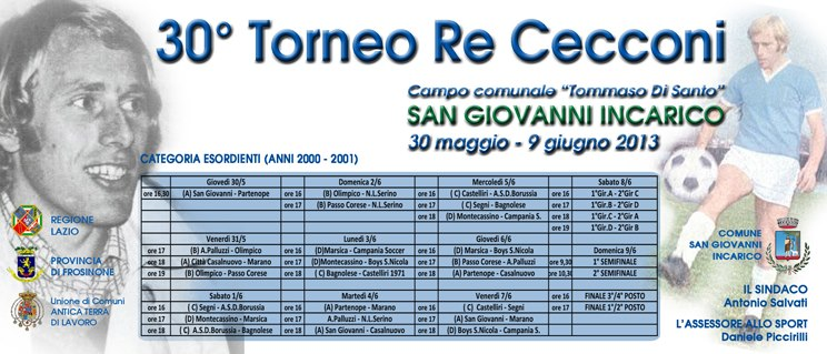 Calendario Torneo Re Cecconi