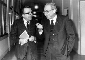 Cossiga e Andreotti sorridono