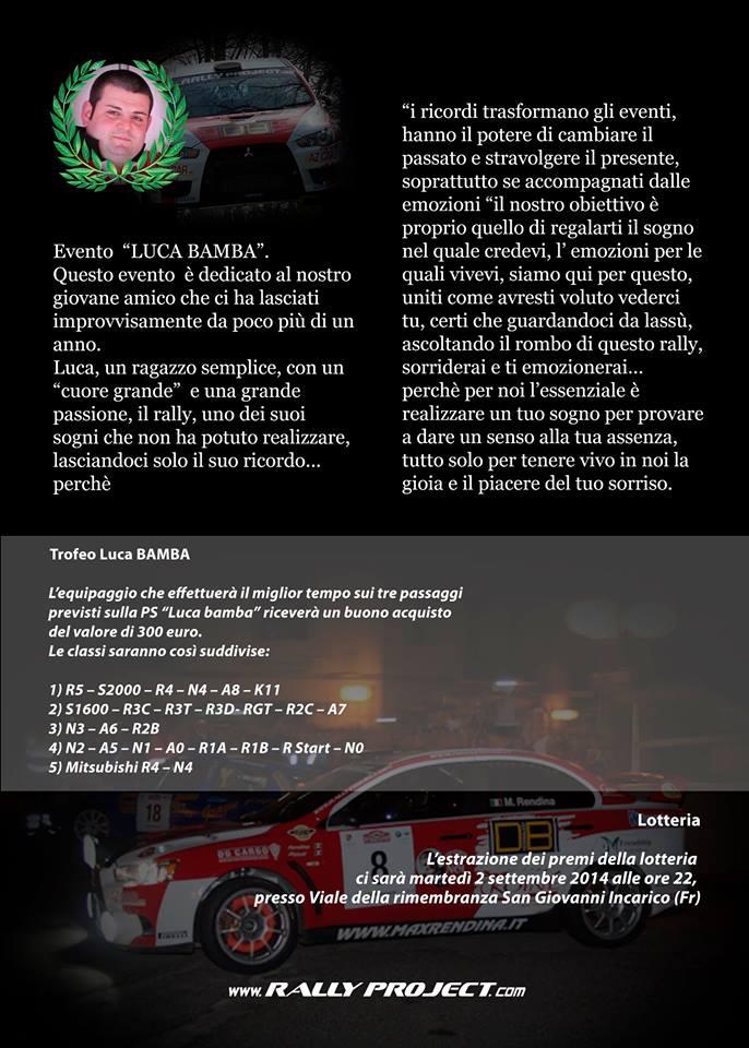 Evento P.S. Luca Bamba