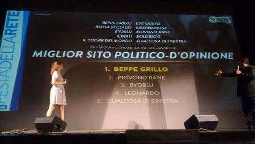 Macchianera- classifica sito politico d'opinione