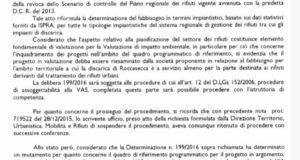 Discarica di Cerreto:sospeso l'ampliamento
