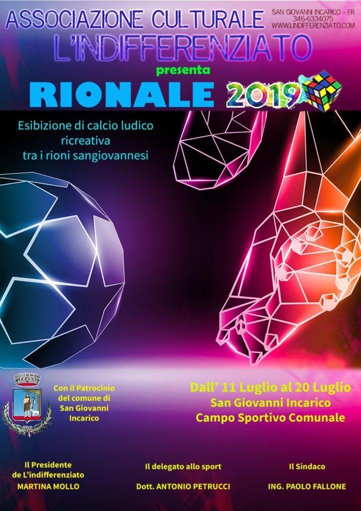Locandina - Il Rionale 2019